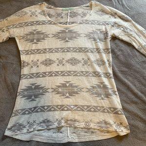 Maurice's 3/4 Length Sleeve Tribal Shirt